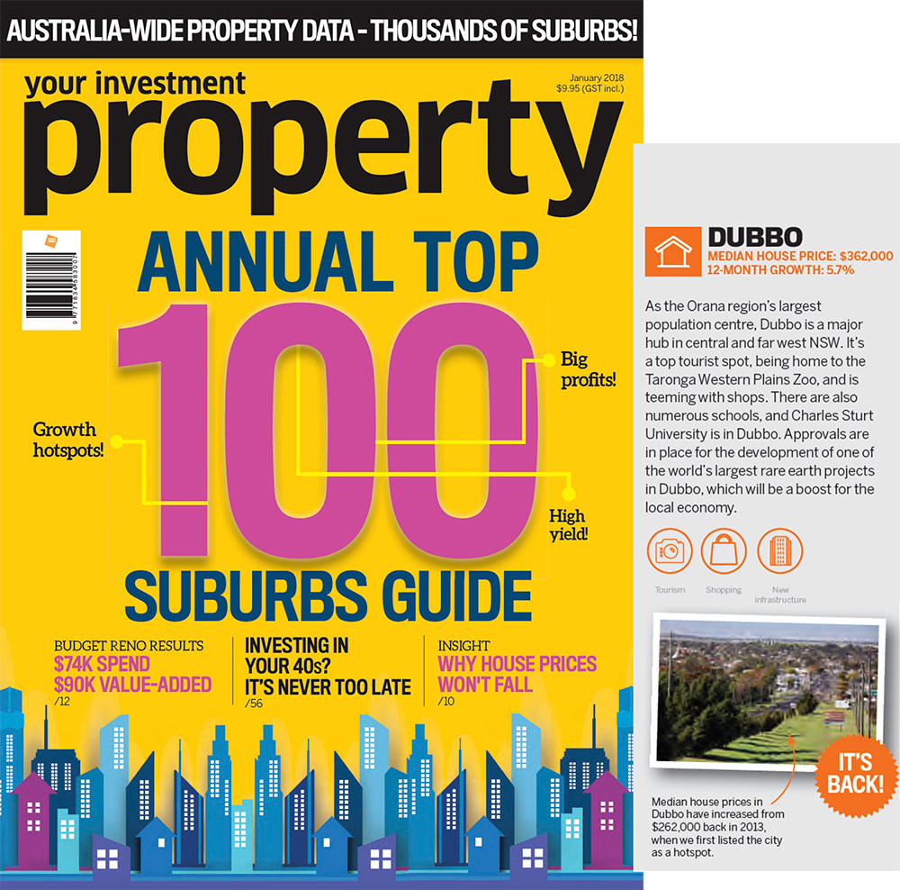 Dubbo makes your investment property magazine Annual Top 100 Suburbs Guide